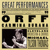 Orff: Carmina Burana / Tilson Thomas, Blegen, Riegel, et al