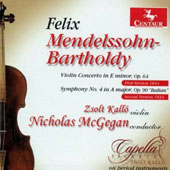 Mendelssohn: Violin Concerto in E minor; Symphony no 4