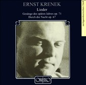 Ernst Krenek: Lieder