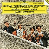 Dvor&#225;k: American Quartet, Cypresses;  Kodaly: Quartet no 2