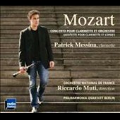 Mozart: Clarinet Concerto, Clarinet Quintet / Patrick Messina, clarinet; Philharmonia Quartett Berlin