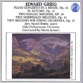 Grieg: Piano Concerto, Elegaic Melodies / Bratlie, Jansons