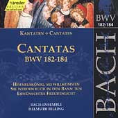 Edition Bachakademie Vol 55 - Cantatas BWV 182-184 / Rilling