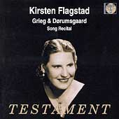 Grieg, Dorumsgaard - Song Recital / Kirstin Flagstad