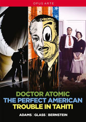 Contemporary American Operas - John Adams: Doctor Atomic; Philip Glass: The Perfect American; Leonard Bernstein: Trouble in Tahiti plus documentaries & interviews [4 DVDs]