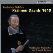 Schutz: Psalmen Davids 1619 / Beringer