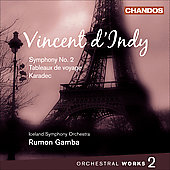 D'Indy: Orchestral Works Vol 2 / Rumon Gamba, Iceland SO