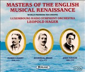 Masters of the English Musical Renaissance