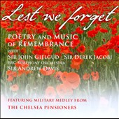 Lest We Forget: Poetry and Music of Remembrance