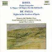 Ravel: Piano Concertos;  Falla: Nights / Thiollier, Wit
