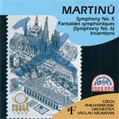 Martinu: Symphony no 5-6 / Neumann, Czech Philharmonic