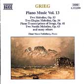 Grieg: Piano Music Vol 13 / Einar Steen-Nokleberg