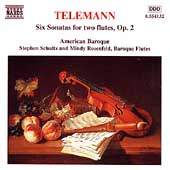 Telemann: 6 Sonatas for Two Flutes Op 2 / Schultz, Rosenfeld