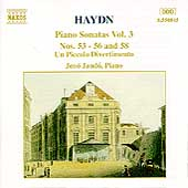 Haydn: Piano Sonatas Vol 3 / Jen&ouml; Jand&oacute;