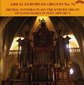 Great European Organs Vol 76 / Michal Novenko