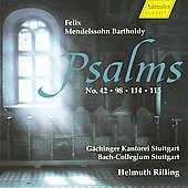 Mendelssohn: Psalms no 42, 98, 114, 115 / Rilling, Et al