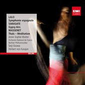 Lalo: Symphonie espagnole; Sarasate: Gypsy Airs; Massenet: Thais / Anne-Sophie Mutter, violin - Karajan