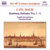 CPE Bach: Hamburg Sinfonias / Bends, Capella Istropolitana