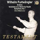 Wilhelm Furtw&auml;ngler - Brahms: Haydn Variations, Symphony 1