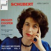 Schubert: The Last Six Years Vol 3 / Imogen Cooper