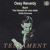 Bach: Two Sonatas for Solo Violin;  et al / Oscar Renardy