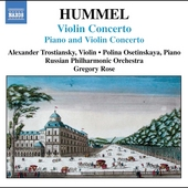 Hummel: Violin Concerto, etc / Trostiansky, et al
