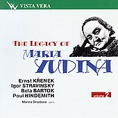 The Legacy of Maria Yudina Vol 2 - Krenek, Stravinsky, et al