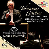 Brahms: Symphony no 4 Op 98, Hungarian Dances / Janowski, Pittsburg SO