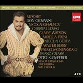 Mozart: Don Giovanni / Ghiaurov, Ludwig, Watson, Freni, Gedda, Berry, Crass. Klemperer