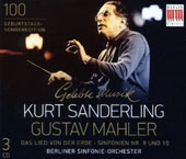 Mahler: Das Lied von Der Erde, Symphonien Nos. 9 und 10 / Kurt Sanderling, Berlin SO / Peter Scheier, tenor; Birgit Finnila, alto