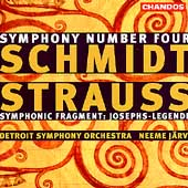Schmidt: Symphony no 4;  Strauss / J&auml;rvi, Detroit SO
