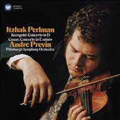 Korngold: Violin Concerto in D; Julius Conus (1869-1942): Violin Concerto in E minor / Itzhak Perlman, violin; Pittsburgh SO, Previn