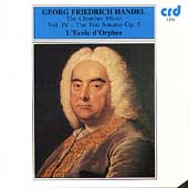 Handel: Chamber Music Vol 4 - Trio Sonatas, Op 5