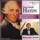 Haydn: Complete Piano Sonatas Vol 4 / Roland Batik
