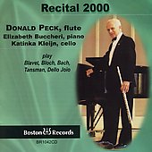 Recital 2000 - Poulenc, Bloch, etc / Donald Peck, et al