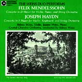 Haydn, Mendelssohn: Concertos / Weiss Duo, Crystal CO