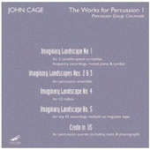 John Cage Edition, Vol. 43: Works for Percussion I / Percussion Group Cincinnati [DVD]