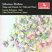 Brahms: Songs & Sonatas for Viola and Piano / Schranze, Peterson