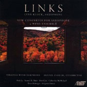 Links - Concertos for saxophone & band by Hazo, Jex, McMichael, Balmages, Grigoras / Lynn Klock, saxophone