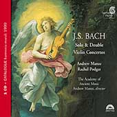 Bach: Solo & Double Violin Concertos / Manze, Podger, AAM
