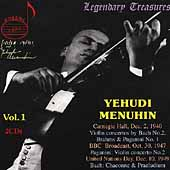 Legendary Treasures - Yehudi Menuhin Vol 1 - Bach, et al