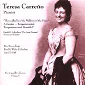 Recordings of Teresa Carreño