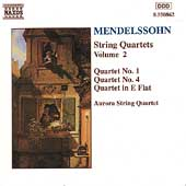 Mendelssohn: String Quartets Vol 2 / Aurora String Quartet