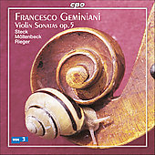 Geminiani: Violin Sonatas Op 5 / Steck, M&#246;llenbeck, Rieger