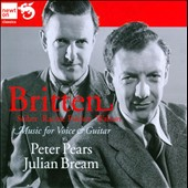 Music for Voice & Guitar by Britten, Walton, Seiber / Peter Pears, tenor; Julian Bream, guitar