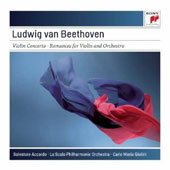 Beethoven: Violin Concerto; Romances (2) for Violin and Orchestra / Salvatore Accardo, violin; Giulini, La Scala PO