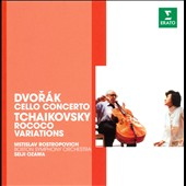 Dvorak: Cello Concerto; Tchaikovsky: Rococo Variations / Mstislav Rostropovich, cello. Ozawa, Boston SO