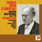 Sviatoslav Richter at Carnegie Hall: All Prokofiev Program - October 23, 1960