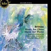 Britten: Music for Oboe, Music for Piano / Francis, Dussek
