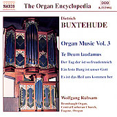 Organ Encyclopedia - Buxtehude: Organ Music, Vol 3 / Rübsam